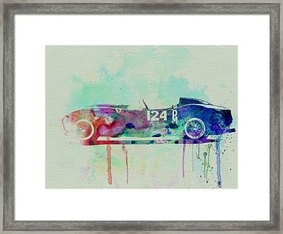 Ferrari Testa Rossa Watercolor 2 Framed Print by Naxart Studio