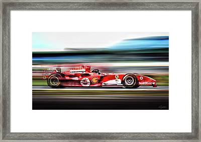 Ferrari Unbridled Framed Print by Peter Chilelli