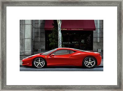 Ferrari Wine Run Framed Print by Peter Chilelli