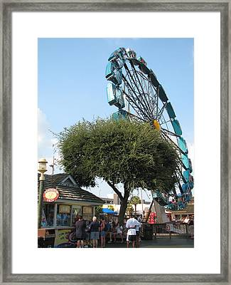 Ferris Upside Down Framed Print by Kelly Mezzapelle