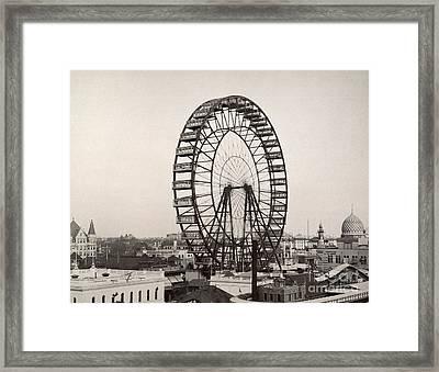 Ferris Wheel, 1893 Framed Print by Granger