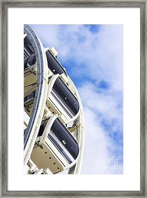 Ferris Wheel Carts Framed Print by Jorgo Photography - Wall Art Gallery