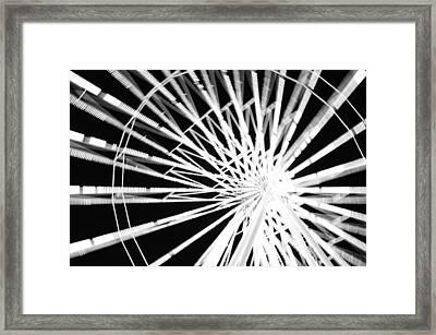 Ferris Wheel Framed Print by Lynda Dawson-Youngclaus