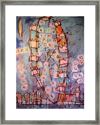 Ferris Wheel Of Life Sold Framed Print by Charlie Spear