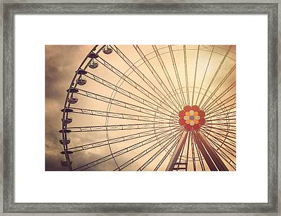 Ferris Wheel Prater Park Vienna Framed Print by Carol Japp