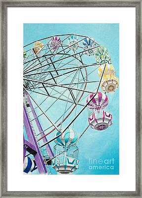 Ferris Wheel View Framed Print by Glenda Zuckerman