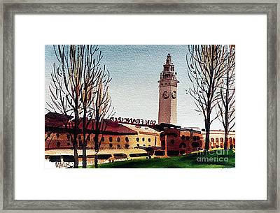 Ferry Building San Francisco Framed Print by Donald Maier