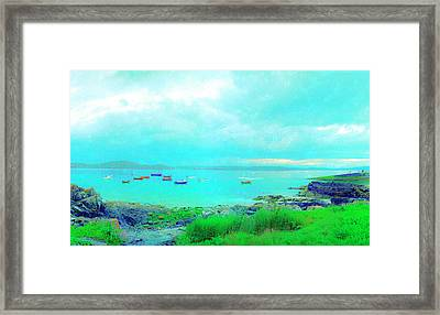 Ferry Wake Framed Print by Jan W Faul