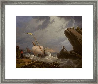 Ferryboat Framed Print by Robert Salmon