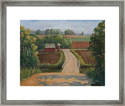 Fertile Farm Framed Print by Sandra Quintus
