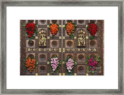 Festival Gopuram Gates Framed Print by Tim Gainey