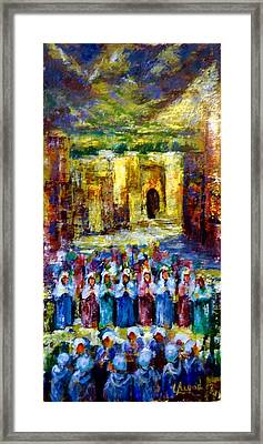 Festival In The Village . Framed Print by Laila Awad Jamaleldin