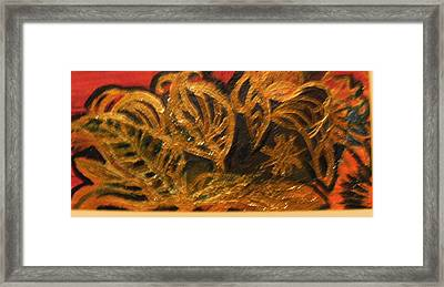 Festive Foliage Framed Print by Anne-Elizabeth Whiteway