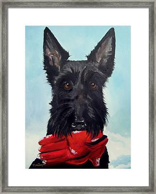 Fetch Framed Print by Terry Cox Joseph