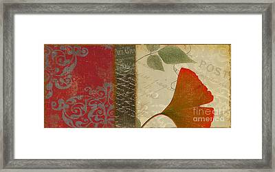 Feuilles  Framed Print by Mindy Sommers