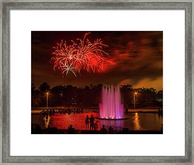Fair St Louis 4th Of July Fireworks Framed Print by Garry McMichael