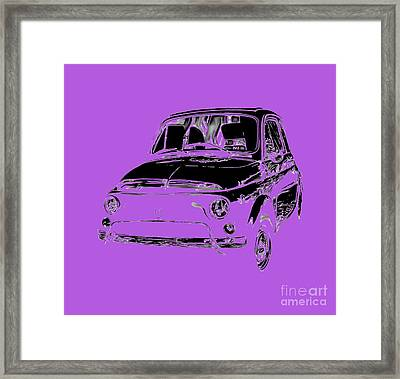 Fiat 500 2 Tee Framed Print by Edward Fielding