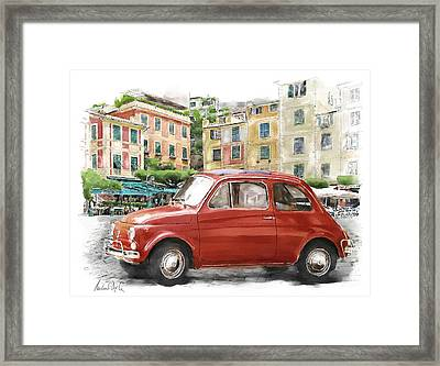Fiat 500 Classico Framed Print by Michael Doyle