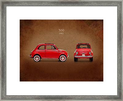 Fiat 500 D 1960 Framed Print by Mark Rogan