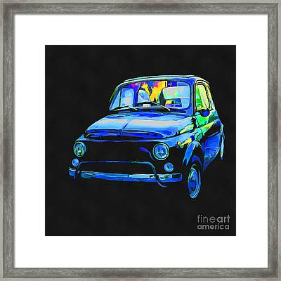 Fiat 500 Pop Art Framed Print by Edward Fielding