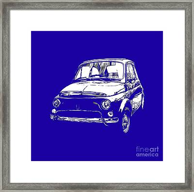 Fiat 500 Tee Framed Print by Edward Fielding