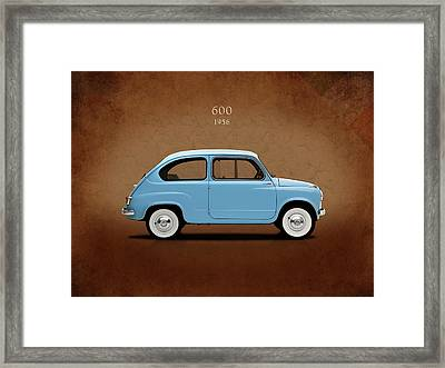 Fiat 600 1956 Framed Print by Mark Rogan