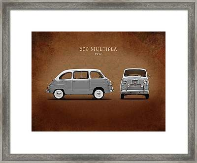 Fiat 600 Multipla 1957 Framed Print by Mark Rogan