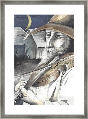 Fiddler Framed Print by Colleen Stiles