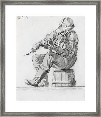 Fiddler Framed Print by George Caleb Bingham