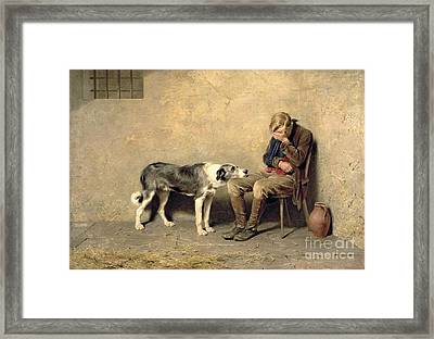Fidelity Framed Print by Briton Riviere