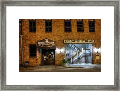 Fidlers Gallery And The Cotton Exchange Framed Print by Greg Mimbs