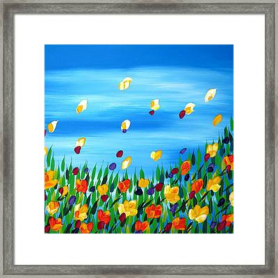 Field Framed Print by Cathy Jacobs