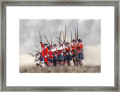 Field Of Battle The Charge Framed Print by Randy Steele