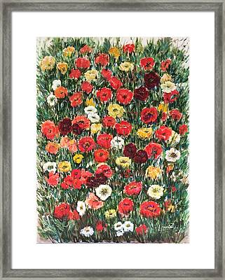 Field Of Puppies  Framed Print by Laila Awad Jamaleldin