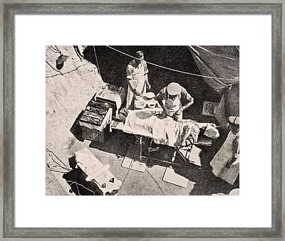 Field Surgery On Gallipoli Peninsula Framed Print by Vintage Design Pics