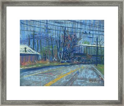 Field's Drive Framed Print by Donald Maier