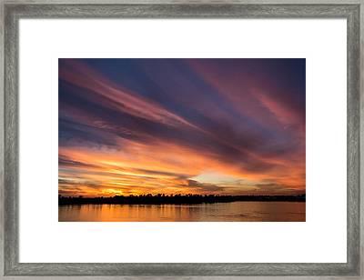 Fiery Sunset Framed Print by Andrea Kappler