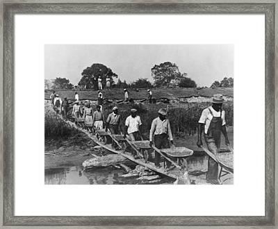 Fifteen African American Laborers Framed Print by Everett