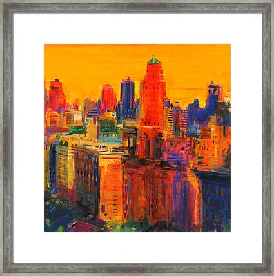 Fifth And Madison Framed Print by Peter Graham