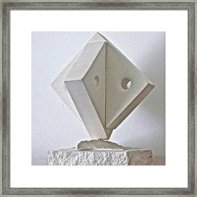 Fifth Chakra Swastika  Framed Print by Frank Pasquill