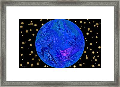 Fifth Dimension Earth Framed Print by Anna Louise