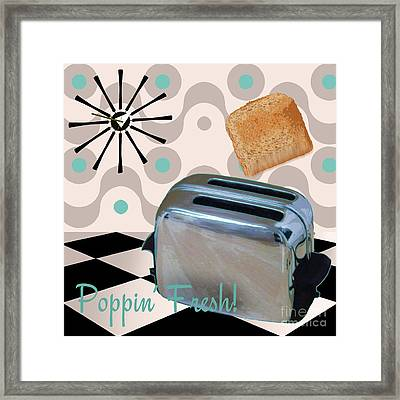 Fifties Kitchen Toaster Framed Print by Mindy Sommers