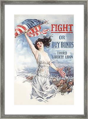 Fight Or Buy Bonds Framed Print by War Is Hell Store