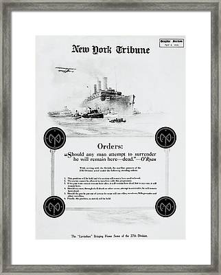 Fight To The Death - W W 1  1919 Framed Print by Daniel Hagerman