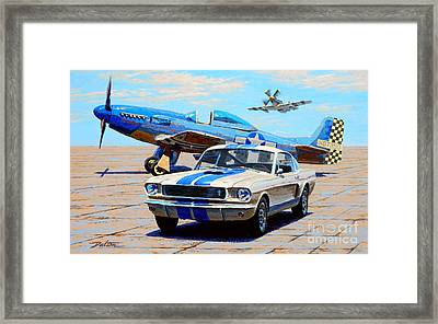 Fighter And Shelby Mustangs Framed Print by Frank Dalton