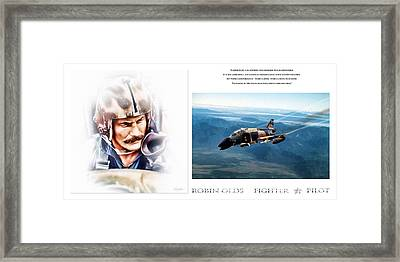 Robin Olds Fighter Pilot Framed Print by Peter Chilelli