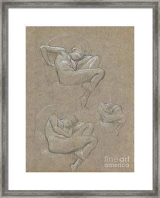 Figure Studies For Flaming June Framed Print by Celestial Images