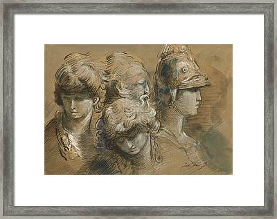Figures Drawing Framed Print by Juan Bosco