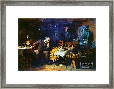 Fildes The Doctor 1891 Framed Print by Granger