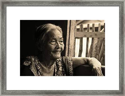 Filipino Lola - Image 14 Sepia Framed Print by James BO  Insogna